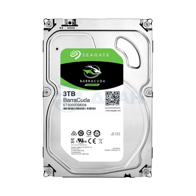 Жесткий диск HDD ST3000DM008 3000 GB (3 TB) Barracuda (Seagate)